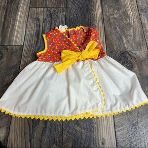 Vintage Sears Dress Colorful Lace 18 Mo. Polka Dot